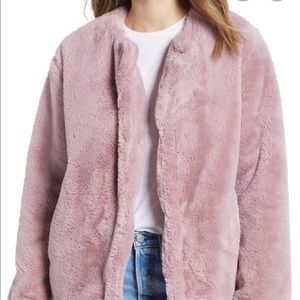 Powder Pink Bernardo Fur Coat